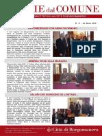 Notizie Dal Comune di Borgomanero del 22 Marzo 2018