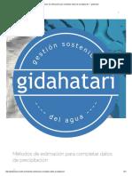 Métodos de Estimación Para Completar Datos de Precipitación — Gidahatari
