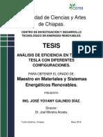 Analisis de Eficiencia en Turbina Tesla Con Diferentes Configuraciones