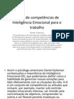 Mapa de Competências de Inteligência Emocional Para o