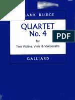 Frank Bridge String Quartet No.4