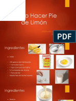 Como Hacer Pie de Limón
