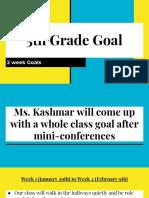 5th grade week goals