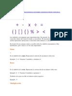 simbolos matematicos