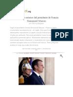 La Política Exterior Del Presidente de Francia Emmanuel Macron