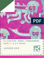 Cantos Indo-peruanos Para 2,3,4 Voces
