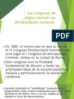 Los Congresos de Antropología Criminal