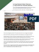 Motivator Indonesia Yang Terkenal, Daftar Motivator Indonesia Terkenal, Nama Motivator Terkenal Indonesia
