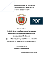 Análisis de la ecoeficiencia de las plantas incineradoras españolas mediante un enfoque de ciclo de vida
