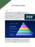 Definición de Pirámide de Kelsen