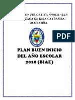 Plan Del Buen Inicio Año Escolar 2018 50334