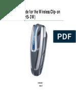 Nokia Wireless Clip on Headset HS-3W UG En