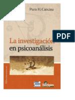 Cancina Pura (2008). La Investigación en Psicoanálisis
