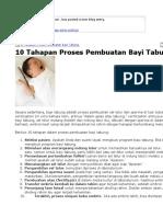 10 Tahapan Proses Pembuatan Bayi Tabung