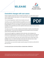 Carers Aus Media Release 22 March 2018
