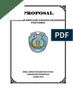 Proposal Posyandu 2018