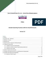 Standard Operating Procedure (SOP) for Exits/Withdrawals - KARVY NPS