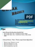 CALL/WA 0818-0302-0853 Cetak Brosur Murah Di Pekanbaru