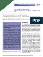 Independent Risk Factors for Postpartum Haemorrhage