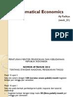 Mathematical Economics w 01 02