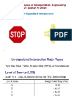 1 B - Unsignalized Intersections