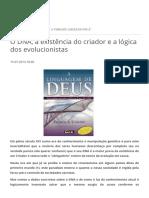 O DNA, A Existência Do Criador e a Lógica Dos Evolucionistas __ Nunes3373