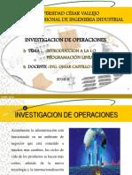 (1) Introduccion a La Investigacion de Operaciones