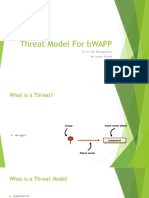Threat Model for Bwapp