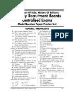 RRB Model Paper