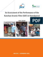 An Assessment of the Performance of the Kanchan Arsenic Filter (KAF) in Nawalparasi