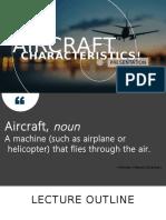 Group 1 - Aircraft Characteristics