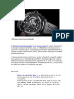 TAG Heuer Grand Carrera Calibre 36 Tabla de Códigos RS Concepto Para Disfrutar