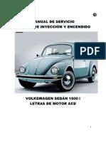 Volkswagen Sedàn 1600 i Letras de Motor Acd