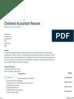 Sample Chartered Accountant Resume
