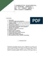 Aspectos Diagnosticos Psiquiatricos, Distancia Oportuna, Lenguaje y Psiquismo, (i) Cuerpo, Mente y Conjunto Clinico Elementalanal2009a