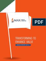 Max India Annual Report 2015 16