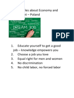 five principles about economy and employment pl