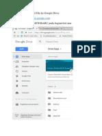 Tutorial Mengupload File Ke Google Drive