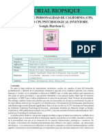 ATPC 11 Inventario de Personalidad de California CPI