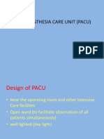 Post Anesthesia Care Unit (Pacu) Dwi