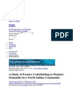 A Study of Factors Contributing to Denture Stomatitis in a North Indian Community