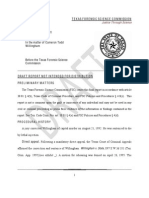 Draft Report of Texas Forensic Science Commission on Todd Willingham Case