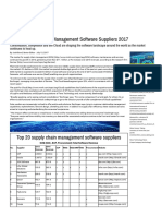 Top 20 Supply Chain Management Software Suppliers 2017