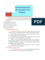 CHAPTER 6 Supercharging and Turbocharging of I.C. Engines