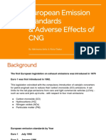 Euro Standards & Effects of CNG