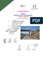 Muros de Retención Tipos. Diseño Hormigon Armado