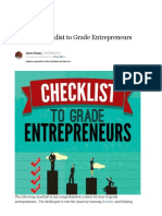 55 Point Checklist to Grade Entrepreneurs