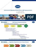 Environmental Regulatory Requirements in E&P Upstream Sector
