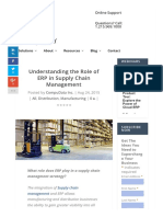Understanding the Role of ERP in Supply Chain Management
