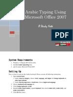 Mengetik Arab Menggunakan Microsoft Office 2007